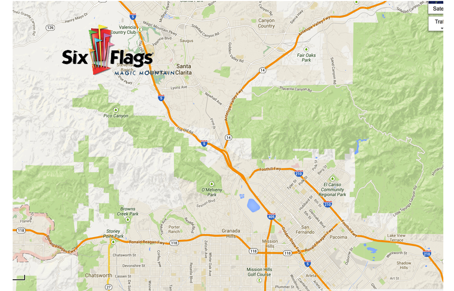 SIX FLAGS MAP